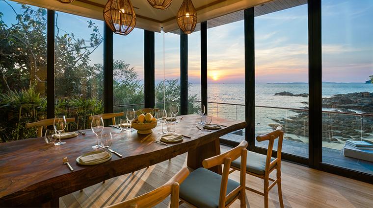 six senses krabey island the beach retreat dining