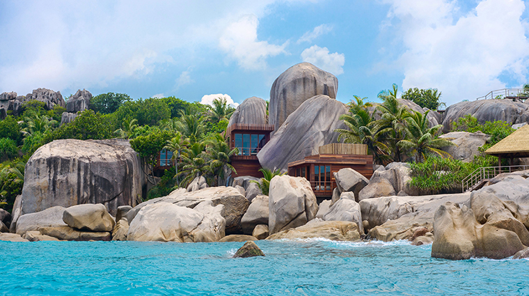six senses spa zil pasyon spa view from sea