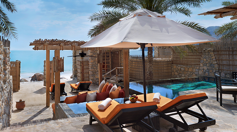 six senses zighy bay pool villa beachfront