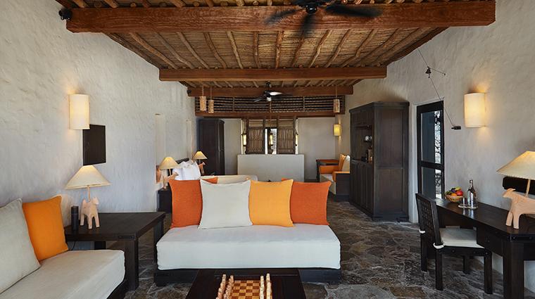 six senses zighy bay pool villa living room