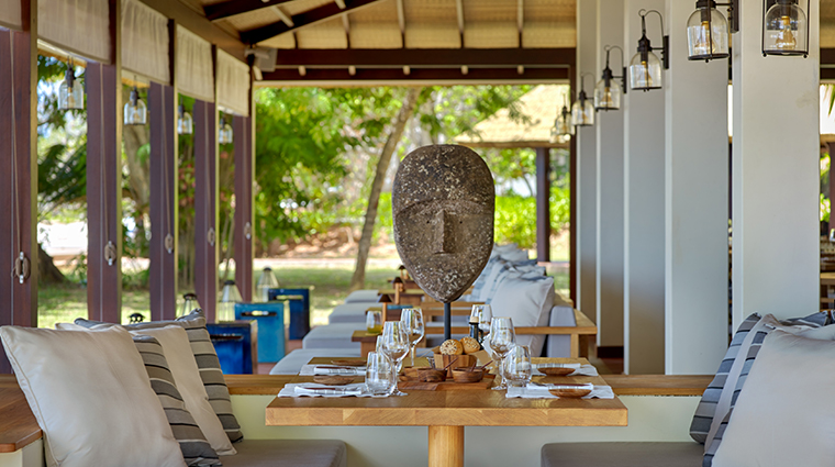 six senses zil pasyon island cafe dining