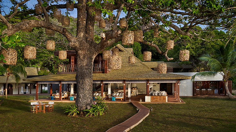 six senses zil pasyon island cafe exterior