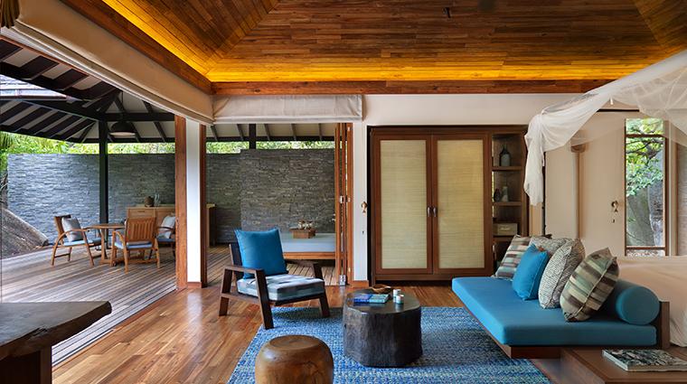 six senses zil pasyon pool villa bedroom