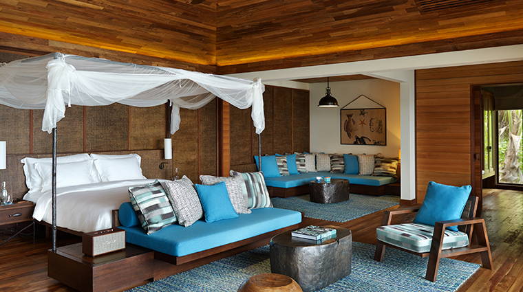 six senses zil pasyon signature pool villa bedroom