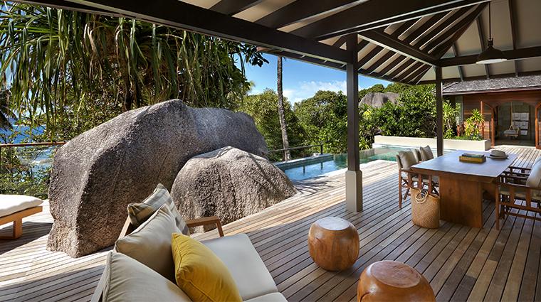 six senses zil pasyon two bedroom pool villa deck