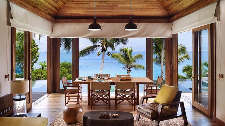 six senses zil pasyon two bedroom pool villa living room