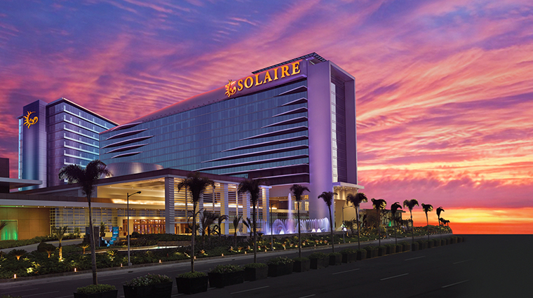 sky tower at solaire resort casino exterior