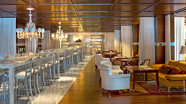 sls hotel at beverly hills a luxury collection hotel tres dining room