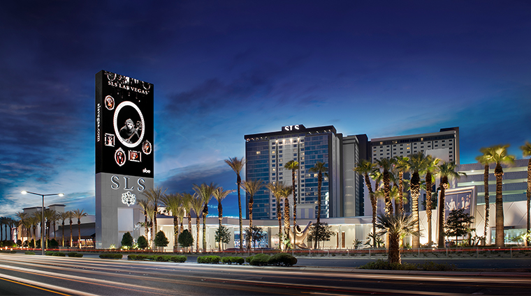 sls las vegas hotel casino exterior