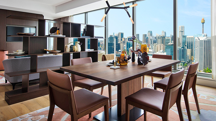 sofitel sydney darling harbour suite living room