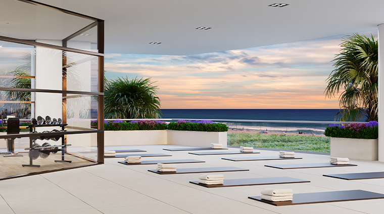 spa at amrit ocean resort and residences yoga terrace