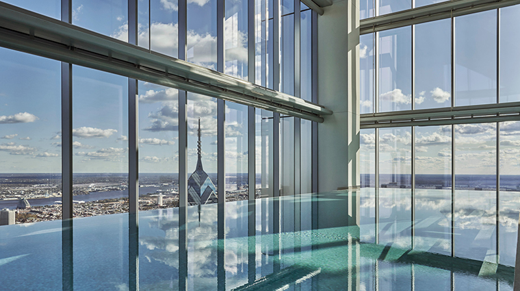 spa at four seasons hotel philadelphia at comcast center pool view