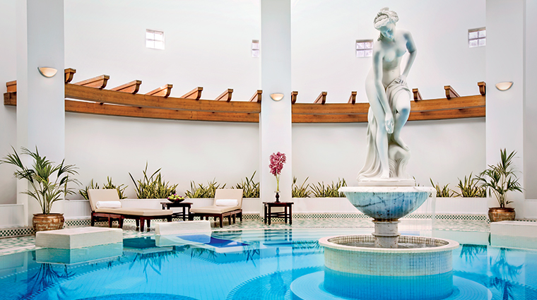 spa at the ritz carlton bahrain pool