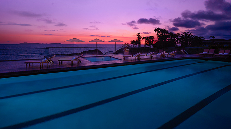 spa montage laguna beach pool night