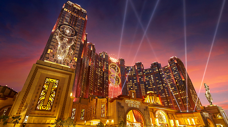 star tower at studio city macau night