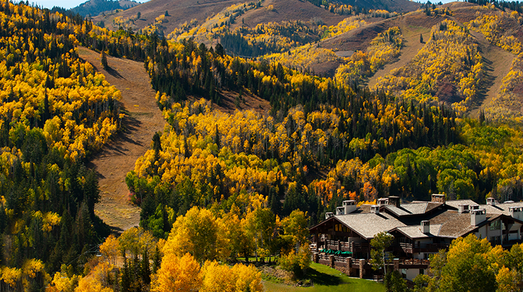 stein eriksen lodge deer valley aerial green