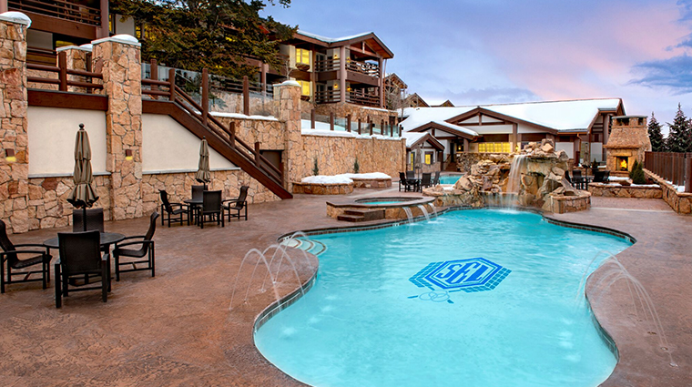 stein eriksen lodge deer valley pool winter