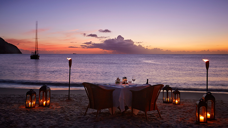 sugar beach a viceroy resort private beach dining