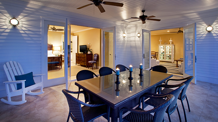 sunset key cottages three bedroom deluxe cottage patio