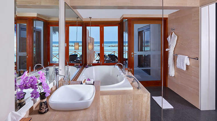 taj coral reef resort spa maldives premium water bathroom