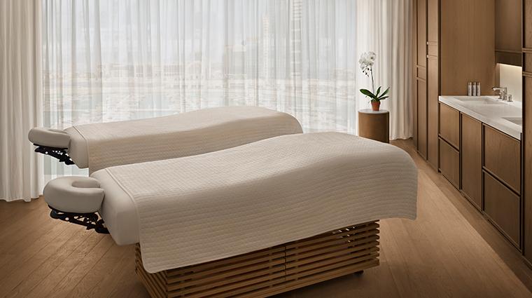 the abu dhabi edition spa couples treatment room