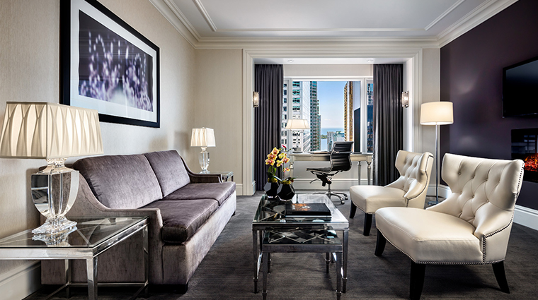 the adelaide hotel toronto suite living room
