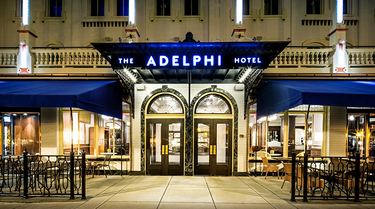 the adelphi hotel entry