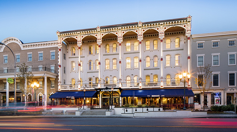 the adelphi hotel exterior