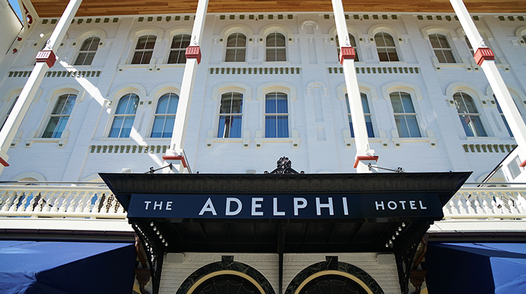 the adelphi hotel sign
