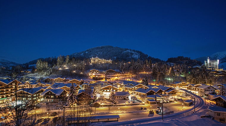 alpina gstaad aerial view winter