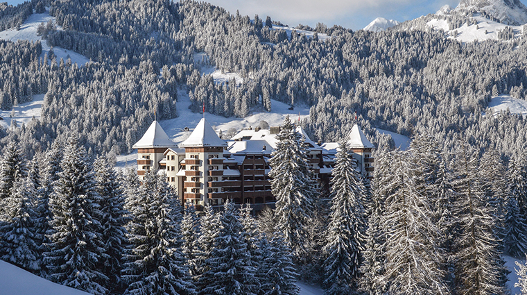 alpina gstaad winter exterior