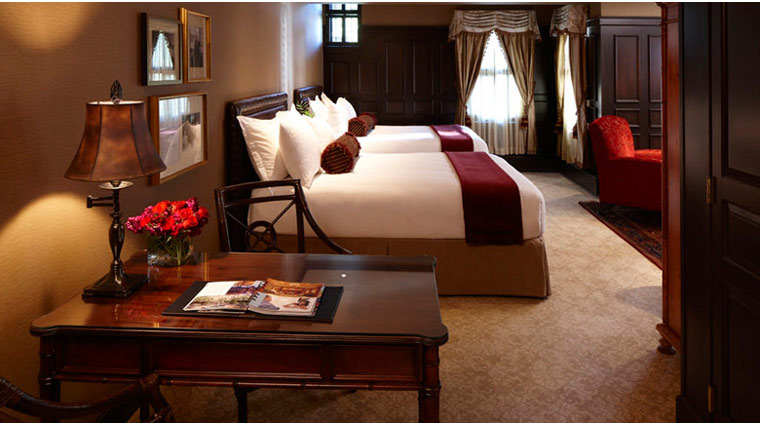 the american club guestroom bed