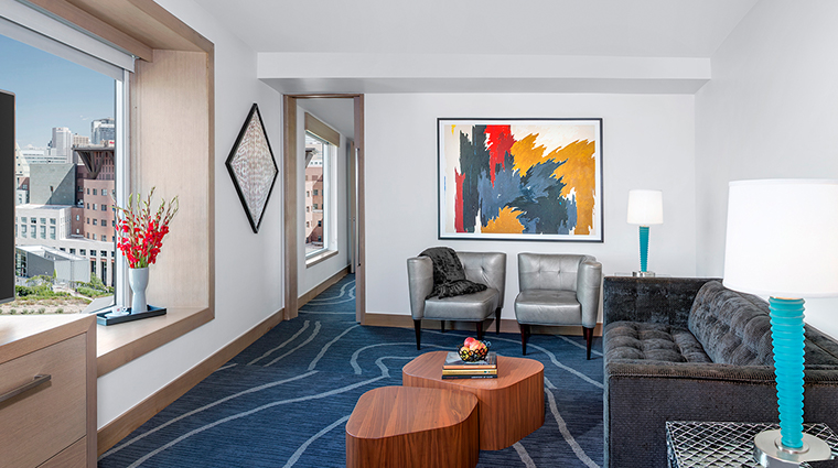 the art a hotel capital suite living room