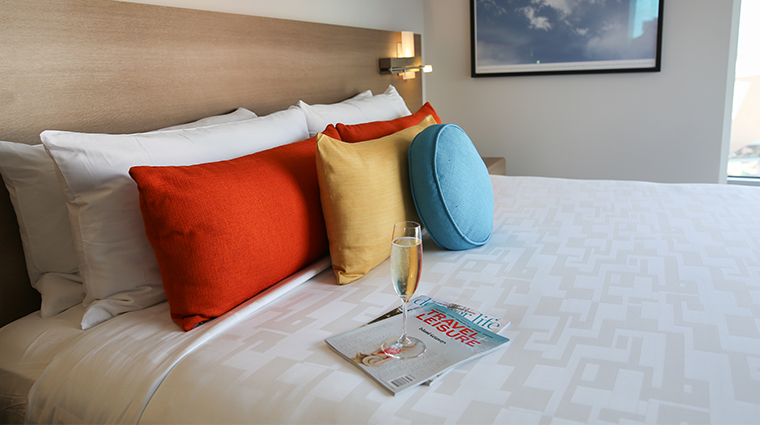 the art a hotel guest bed detail