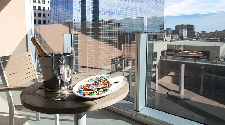the art a hotel guestroom terrace