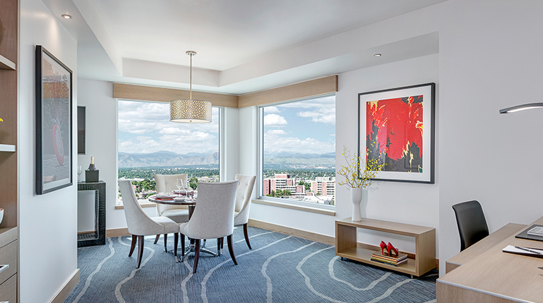 the art a hotel mountain view suite living room