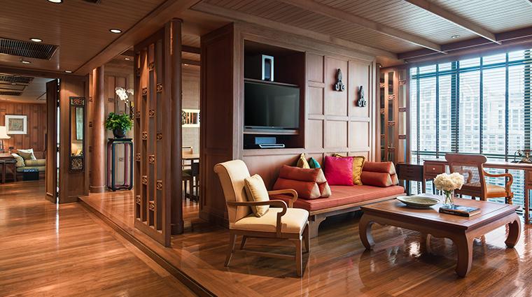 the athenee hotel bangkok Ruen Thai Suite Livingroom