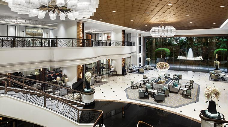 the athenee hotel bangkok lobby topview