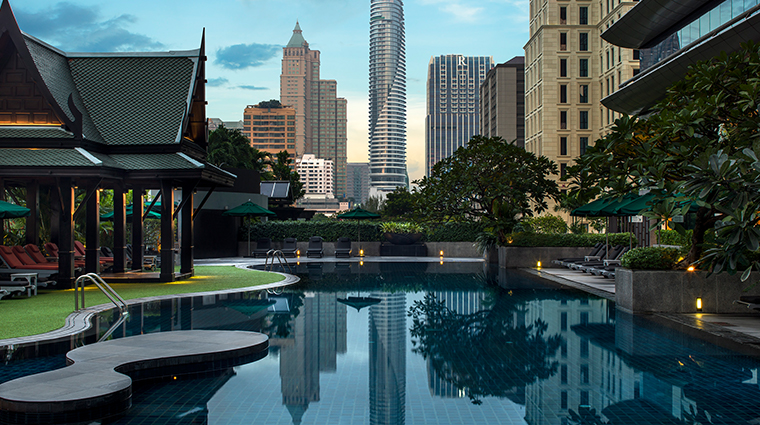 the athenee hotel bangkok pool sunrise