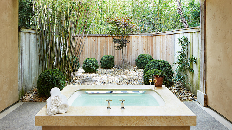 the auberge spa private garden