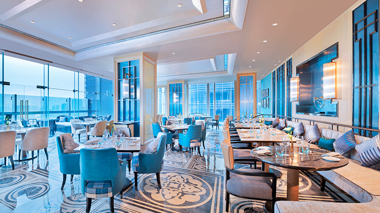 the azure qiantang a luxury collection hotel Panorama Signature Restaurant Bar