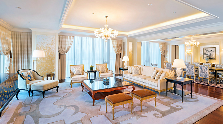 the azure qiantang a luxury collection hotel Presidential Suite living room