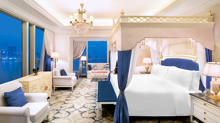 the azure qiantang a luxury collection hotel Presidential Suite master bedroom