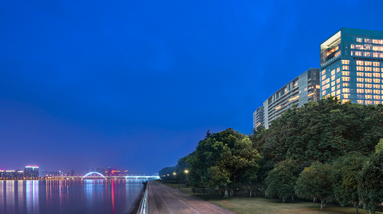 the azure qiantang a luxury collection hotel exterior night