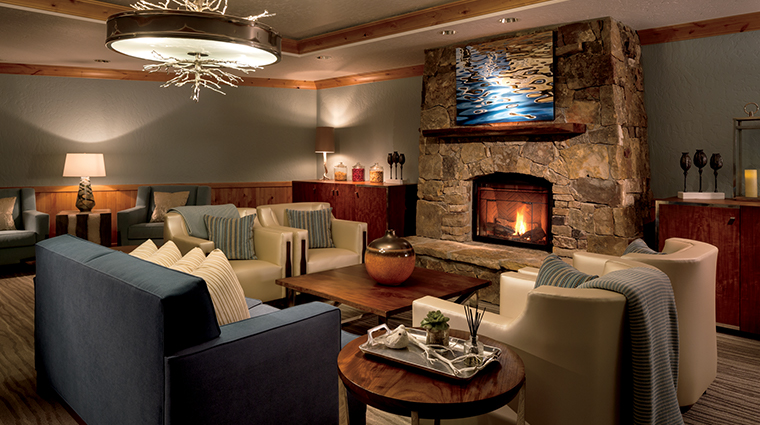 the bachelor gulch spa at the ritz carlton relaxation room