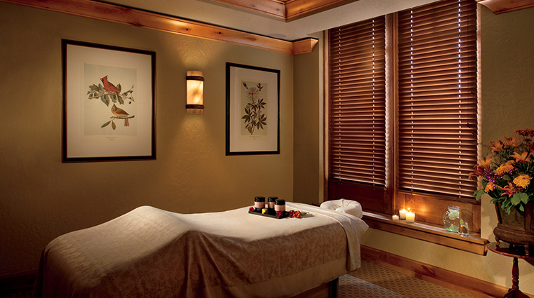 the bachelor gulch spa at the ritz carlton treatment room