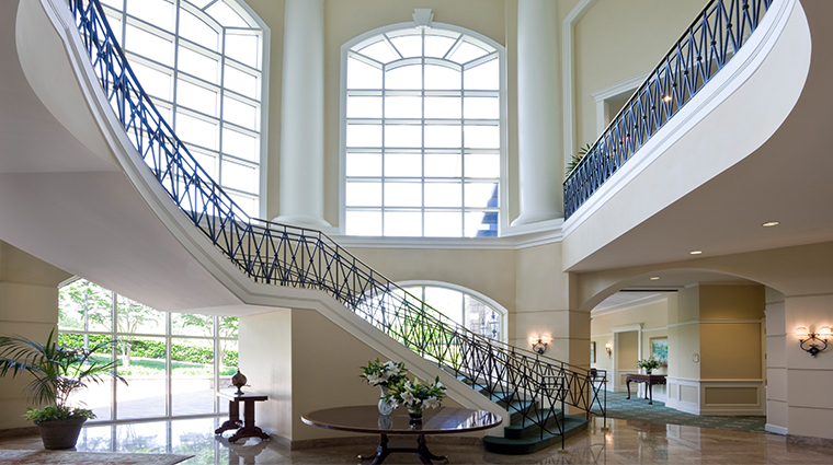 the ballantyne a luxury collection hotel grand staircase