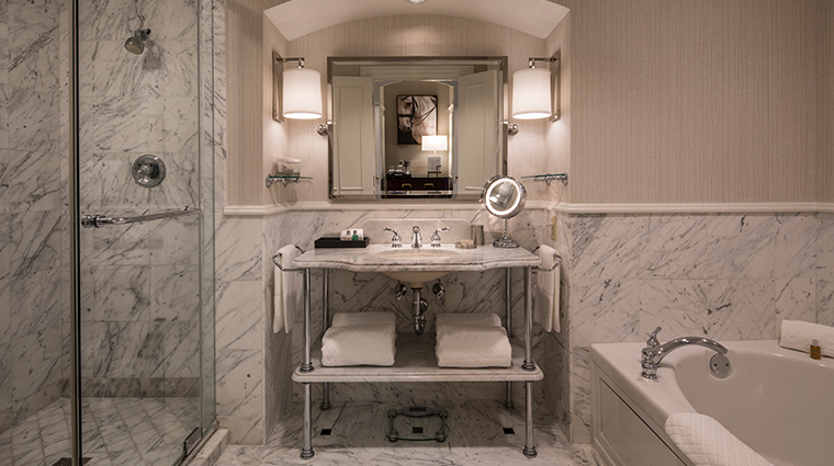 the ballantyne a luxury collection hotel renovated guest bathroom
