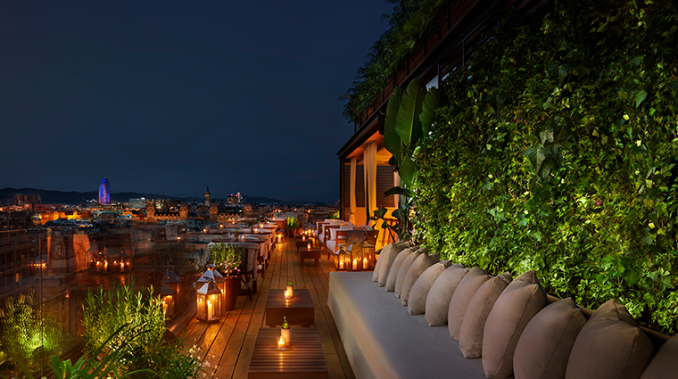barcelona edition rooftop terrace night