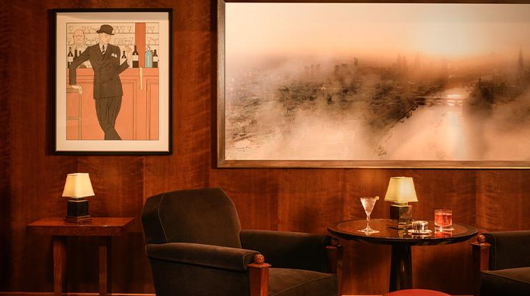 the beaumont magritte bar artwork